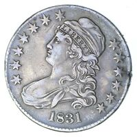 1831 CAPPED BUST HALF DOLLAR - CIRCULATED 0278