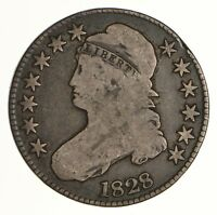 1828 CAPPED BUST HALF DOLLAR - CIRCULATED 6971