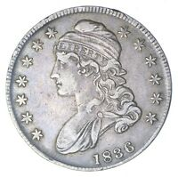 1836 CAPPED BUST HALF DOLLAR - LETTERED EDGE - CIRCULATED 0260