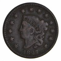 1827 MATRON HEAD LARGE CENT - CIRCULATED 9905