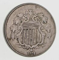 1872 SHIELD NICKEL - WITHOUT RAYS - CIRCULATED 7524