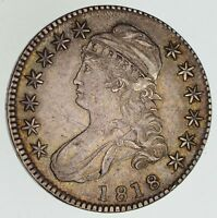 1818 CAPPED BUST HALF DOLLAR - CIRCULATED 4862