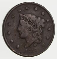 1837 YOUNG HEAD LARGE CENT - CIRCULATED 7789
