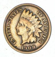 1908-S INDIAN HEAD CENT - CIRCULATED 7023
