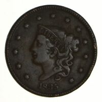 1835 MATRON HEAD LARGE CENT - SMALL 8 & STARS - CIRCULATED 7278