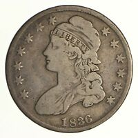 1836 CAPPED BUST HALF DOLLAR - CIRCULATED 6924