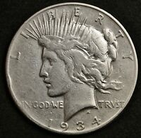1934-S PEACE SILVER DOLLAR.  HIGH GRADE DETAIL.  130239