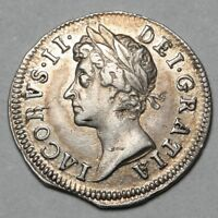 1686 KING JAMES II GREAT BRITAIN SILVER TWOPENCE TWO PENCE 2
