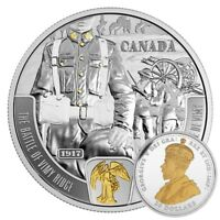 2017 $20 SILVER CANADA BATTLEFRONT SERIES VIMY RIDGE. GOLD PLTD. CASE COA NO TAX