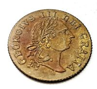 1797 TOKEN OLD COIN BRITISH GOLD LUSTRE KING GEORGE UNUSUAL