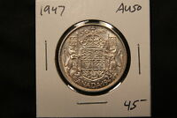 1947 CANADA SILVER 50 CENTS HALF DOLLAR. AU 50 CONDITION.