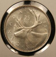 1954 CANADA SILVER 50 CENTS MS 64 NEAR GEM UNCIRCULATED   DATE. BV $150