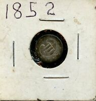 1852 3C UNITED STATES SILVER THREE CENT 3C COIN AD11