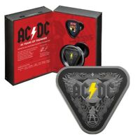 2018 AC/DC   45 YEAR OF THUNDER $5 TRIANGLE SILVER PROOF COI