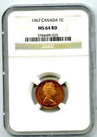 1967 CANADA CENT NGC MS64 RD DOVE CENTENNIAL 1867 1967 COPPE