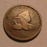 DATELESS FLYING EAGLE CENT PENNY   CIRCULATED CONDITION   31