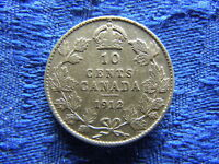 CANADA 10 CENTS 1912 KM23