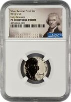 2018 S NICKEL REVERSE PROOF EARLY RELEASES NGC PF70 R.P.  PO