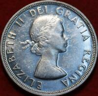 UNCIRCULATED 1954 SHOULDER FLAP CANADA SILVER ONE DOLLAR FOR