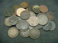 LARGE LOT OF CANADIAN LARGE CENTS.OVER 40