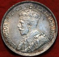 UNCIRCULATED 1919 NEWFOUNDLAND 25 CENTS SILVER FOREIGN COIN