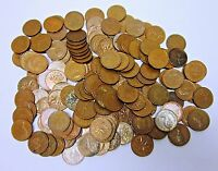 CIRCULATED 2 LB. LOT OF 98  COPPER CANADIAN ONE CENTS