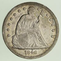 1846 SEATED LIBERTY SILVER DOLLAR - CIRCULATED 0438