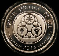 2016 SBSS 1 OZ SILVER SHIELD PROOF   TRUTH JUSTICE PEACE. COA & BOX. MINTAGE 500