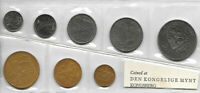 NORWAY SET OF 8 COINS 1968 UNC IN ORIGINAL SEALED SLEEVE NOR