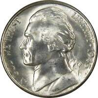 1945 S JEFFERSON WARTIME NICKEL BU UNCIRCULATED MINT STATE 35  SILVER 5C US COIN