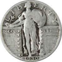 1930 S 25C STANDING LIBERTY SILVER QUARTER US COIN GENUINE