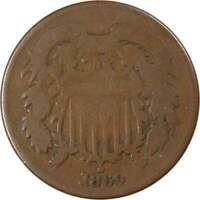 1869 TWO-CENT AVERAGE CIRCULATED