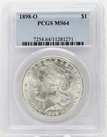 1898-O MORGAN SILVER DOLLAR VAM-5 PCGS MINT STATE 64 CERTIFIED - NEW ORLEANS MINT BA166