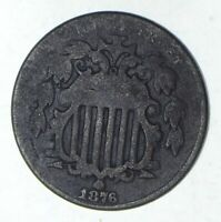 1876 SHIELD NICKEL - CIRCULATED 9183