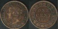 CANADA 1859  LARGE CENT  N9  DBL A   THE YEAR OF THE MANY VA