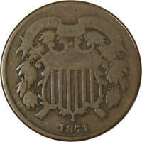 1871 TWO CENT G GOOD