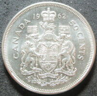 1962 CANADA SILVER FIFTY CENT COIN