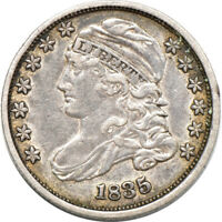 1835 CAPPED BUST DIME EXTRA FINE  /  FINE, 10C C40156