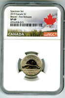 2019 CANADA 5 CENT NGC SP69 FIRST RELEASES FROSTED BEAVER NI