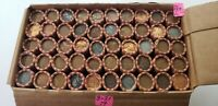 $25 BOX OF WHEAT PENNIES 1909 1958. 2500 WHEAT  50 ROLLS  W/