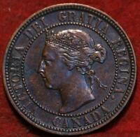 1900 H CANADA ONE CENT FOREIGN COIN