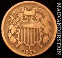 1864 TWO CENT PIECE       BETTER DATE    F2246