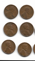 15 WHEAT PENNIES FOR SALE VARIOUS DATES AND CONDITIONS