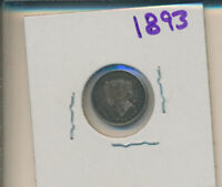 CANADA SILVER - 5 CENT 1893 - SPECIAL