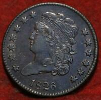 1826 PHILADELPHIA MINT COPPER CLASSIC HEAD HALF CENT 13 STAR