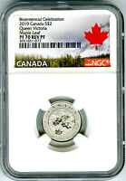 2019 $2 CANADA 1/10 OZ SILVER NGC PF70 MAPLE LEAF QUEEN VICT
