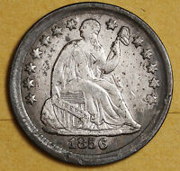 1856 LIBERTY SEATED HALF DIME.  NATURAL X.F.  95991