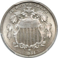 1881 SHIELD NICKEL PR / PROOF 67, PCGS 5C C39082