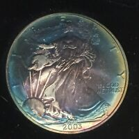 NATURALLY TONED 2003 AMERICAN SILVER EAGLE