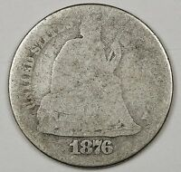 1876-S SEATED LIBERTY DIME.   CIRCULATED.  99677